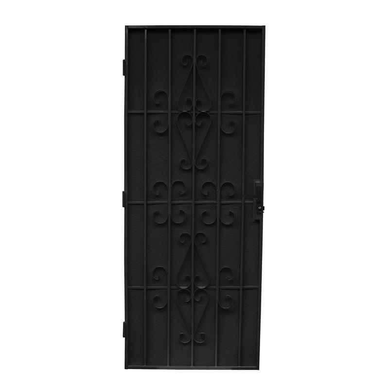 Bastion 2024 X 806mm Catalina Black Imperial Steel Frame Screen Door Installing French Doors Cavity Sliding Doors Steel Frame