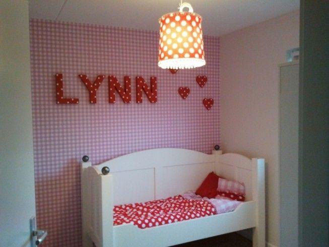 roze ruitjes behang | kinderkamer | pinterest, Deco ideeën