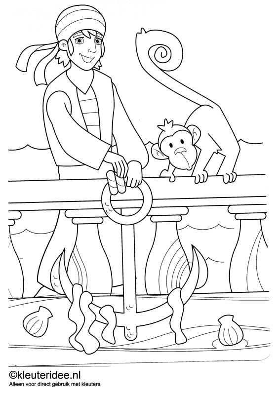 Kleurplaten Piraten En Prinsessen.Kleurplaat Piraten 9 Kleuteridee Nl Op De Site Nog Veel Meer