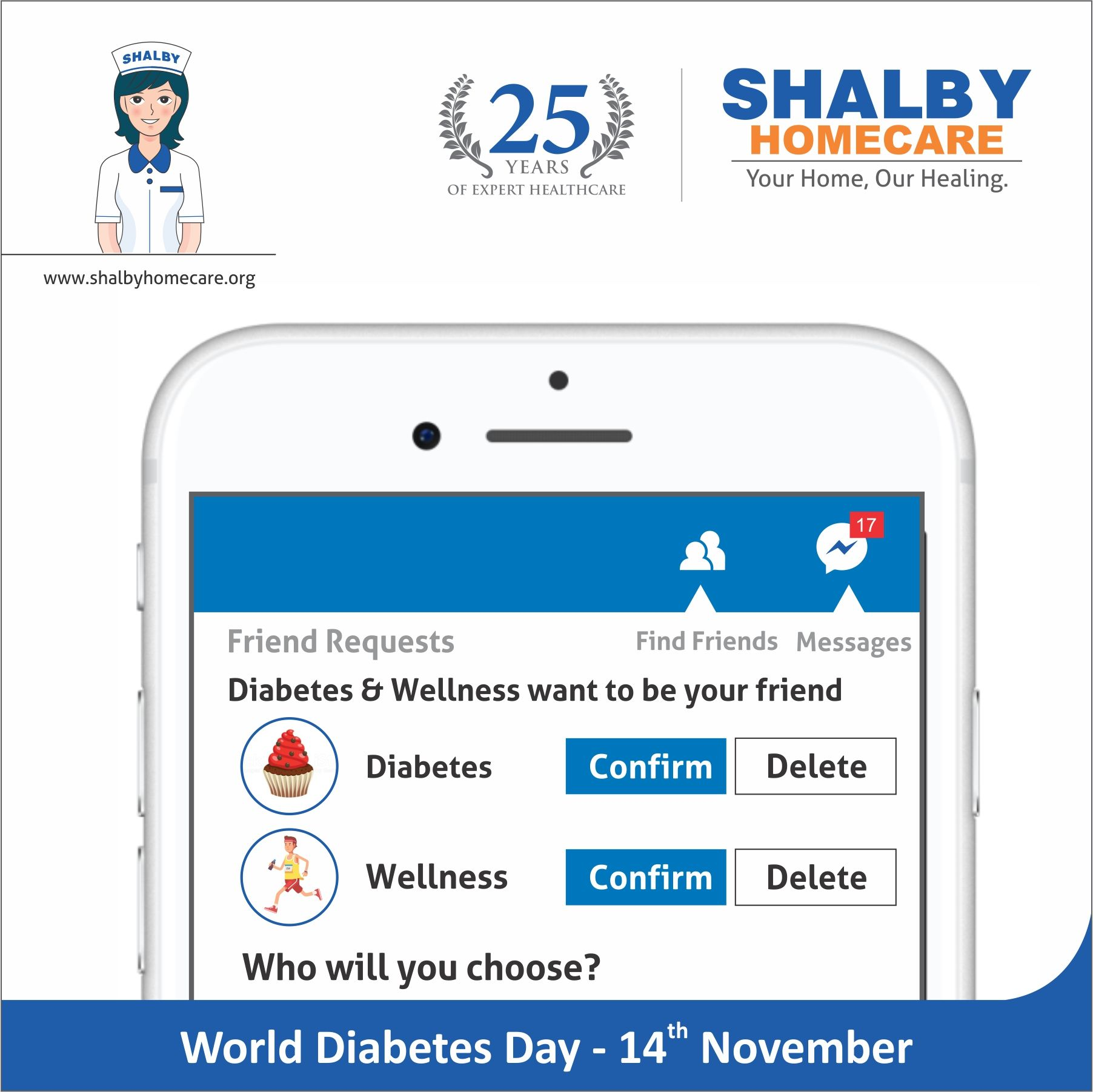 World Diabetes Day Health care services, Diabetes day