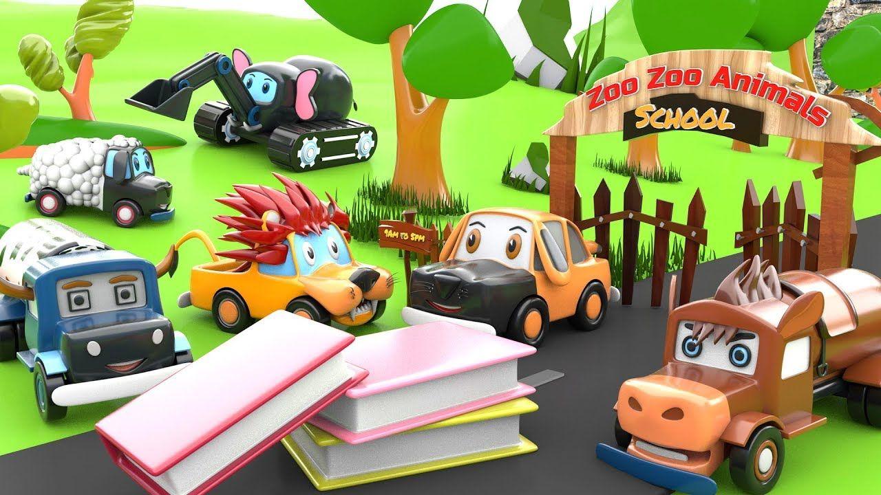 Learn Animals For Kids Animals School Cartoon Animals Cars