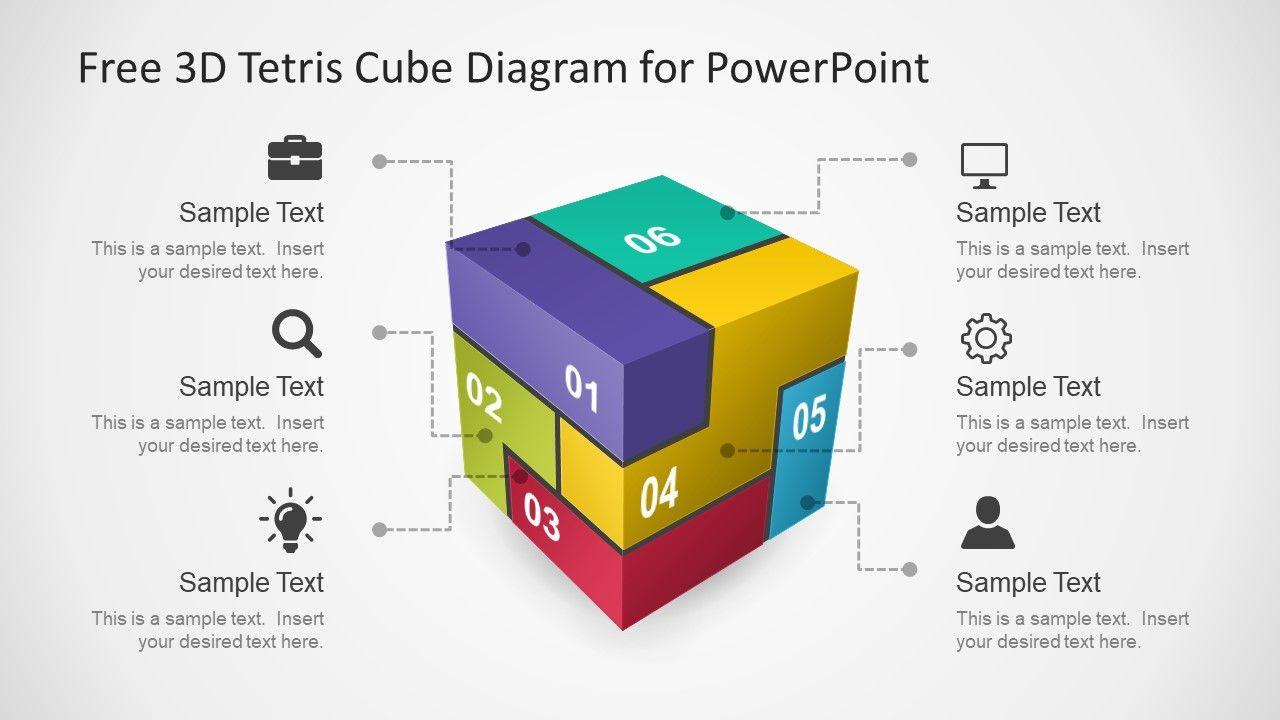 Download Free Powerpoint Templates Slidemodel Com Powerpoint Powerpoint Templates Cube Puzzle piece powerpoint template free