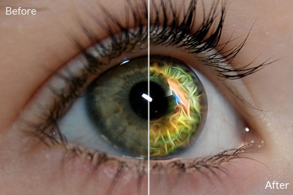 Create Fantasy Eyes with Topaz Glow   Black light