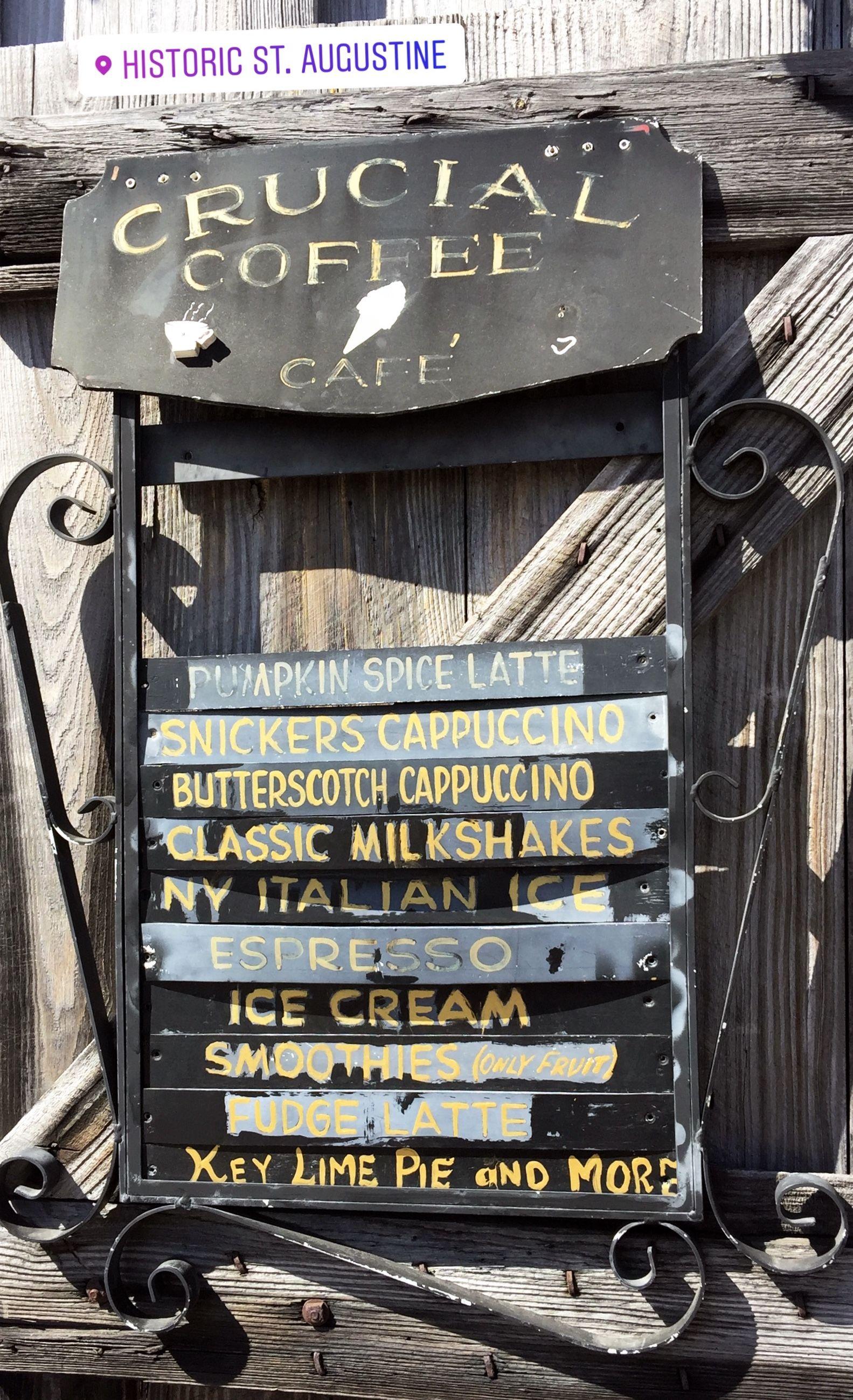 Crucial Coffee Cafe in St Augustine FL Milkway Mocha Latte