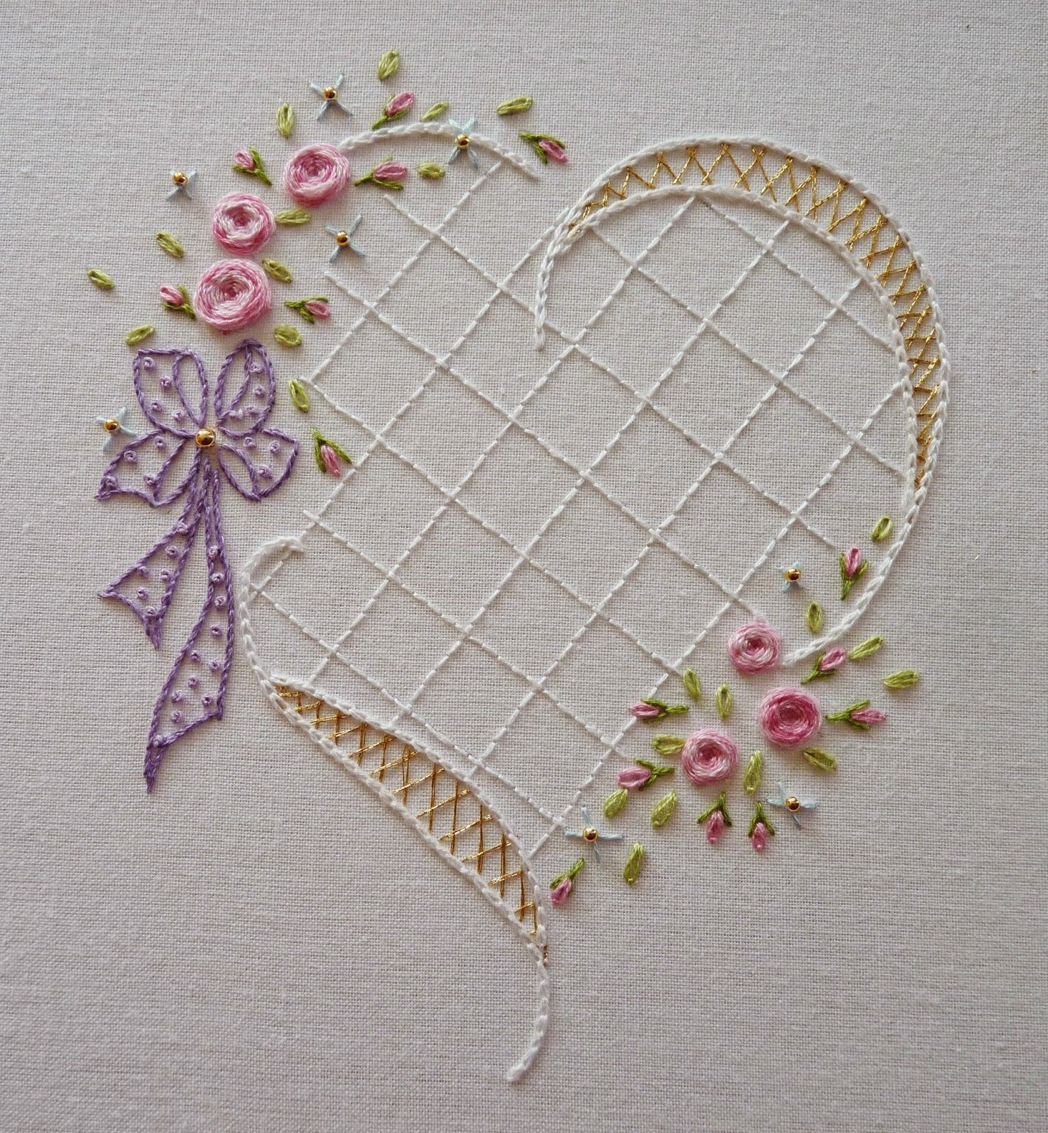 Heart embroidery hearts pinterest embroidery hand embroidery