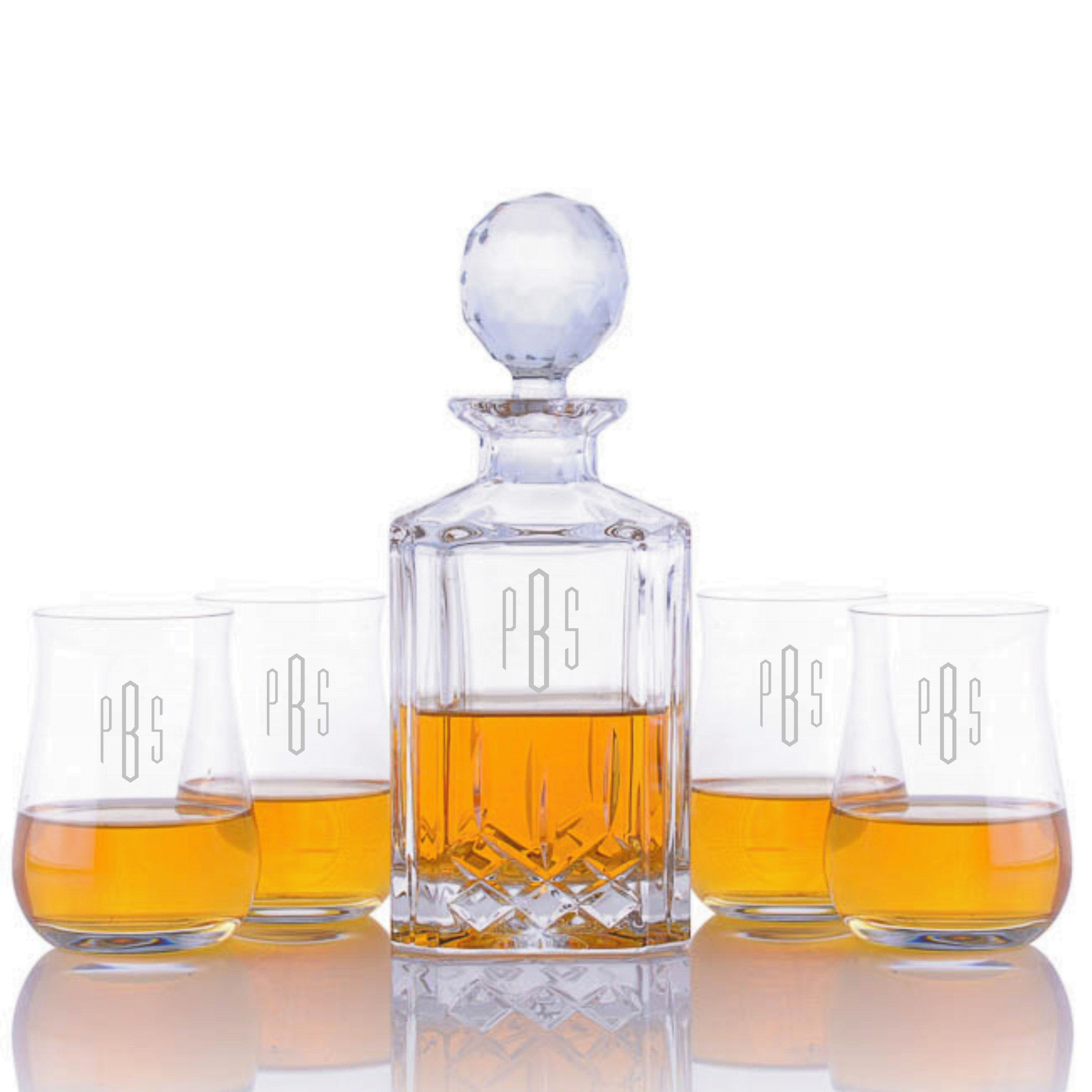 Elegant Engraved Cut Crystal Decanter U0026 Scotch Glasses Set #personalized #crystal  #gift