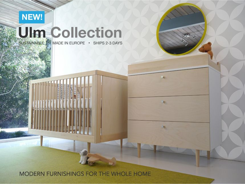 Ulm Collection by Spot On Square - mid century modern inspired Crib ...