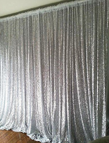 Shinybeauty Sequin Backdrop 9ftx9ft Silver Sequin Backdrop Curtain