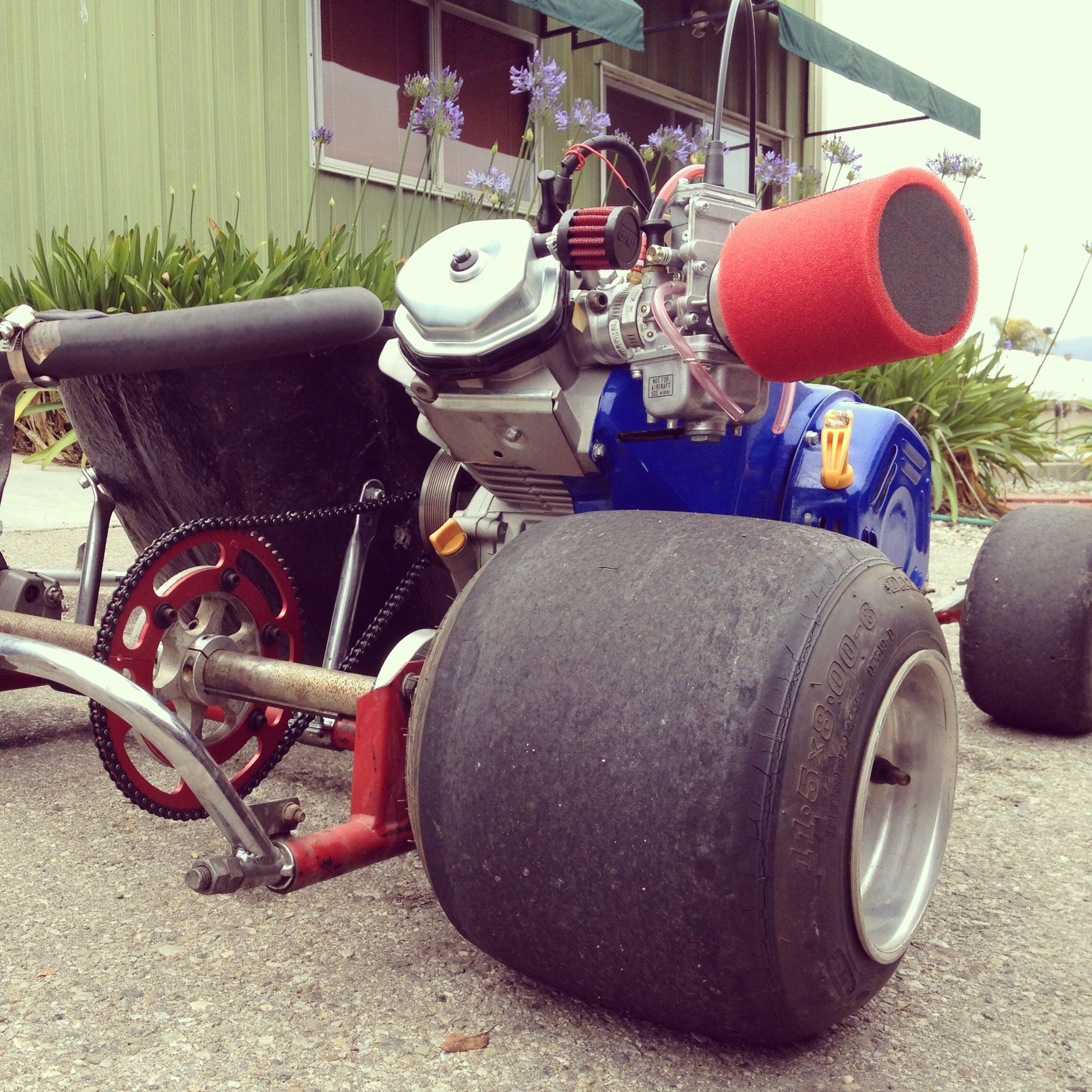 Emmick kart with a big GX390 engine  This engine has a big 360 cam