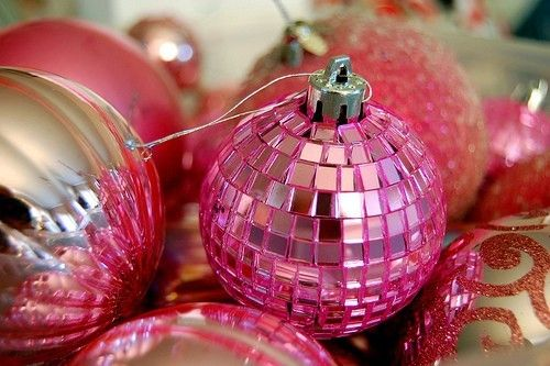 decoração de natal rosa e dourado - Pesquisa Google