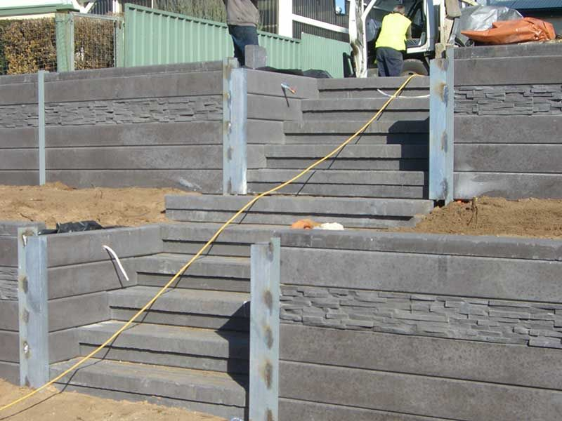 Blackwood Steps Concrete Steps Outback Sleepers Adelaide Concrete Retaining Walls Concrete Sleeper Retaining Walls Sleeper Retaining Wall