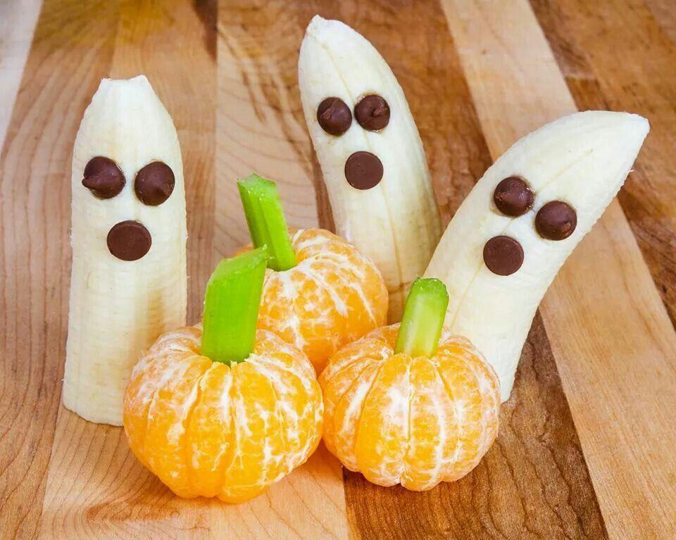 wwwkindertraktatiesgezondnl Spookje traktatie Funny foods