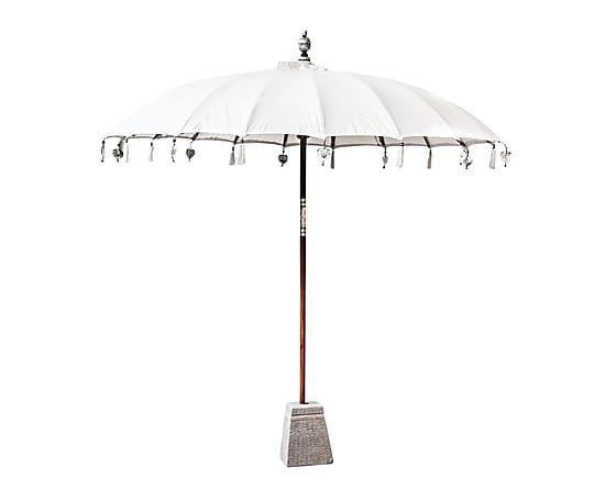 Sombrilla con estructura de madera de mindi beige - Sombrilla de terraza ...