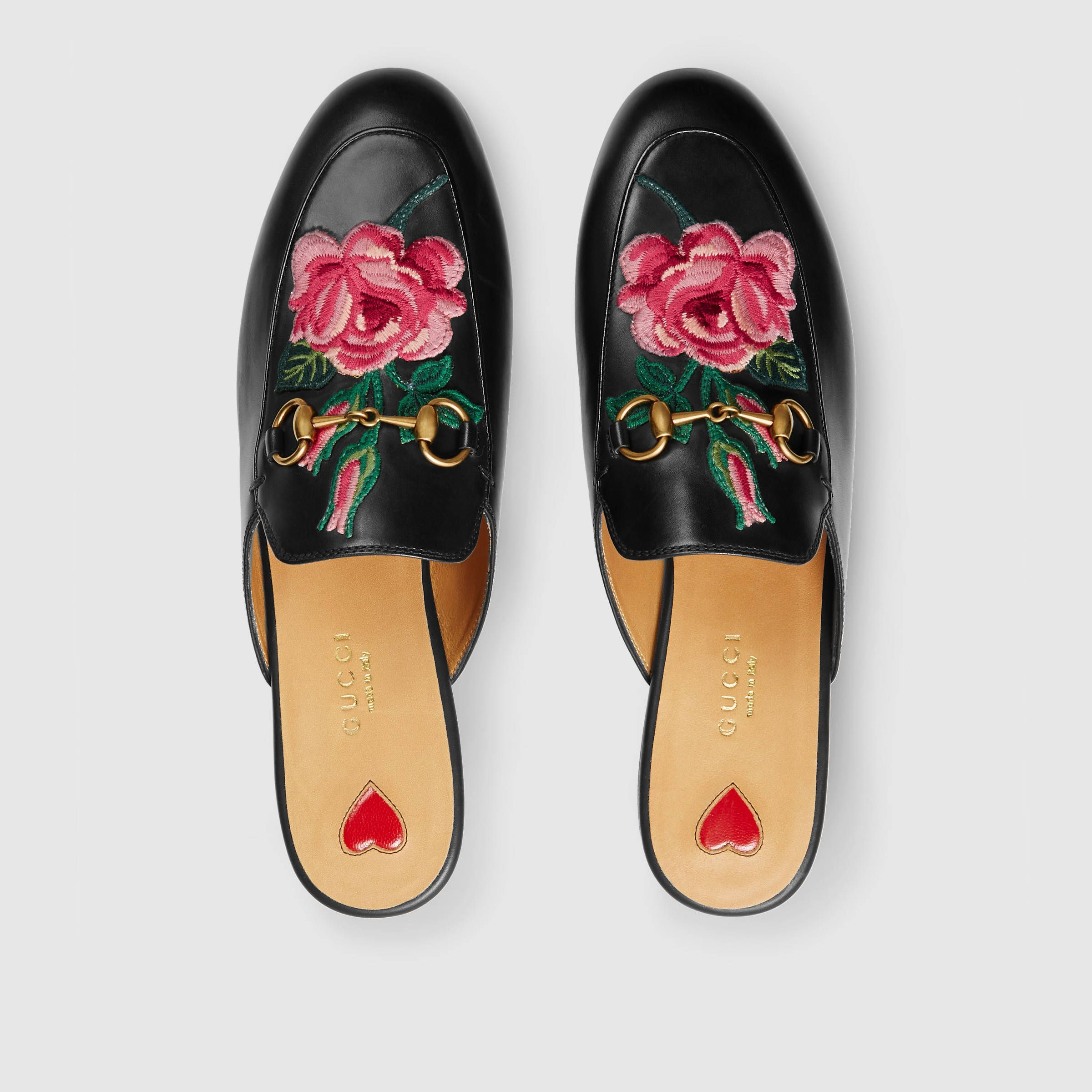a6a85346c0 Gucci embroidered loafers. … | Clothes | Leath…