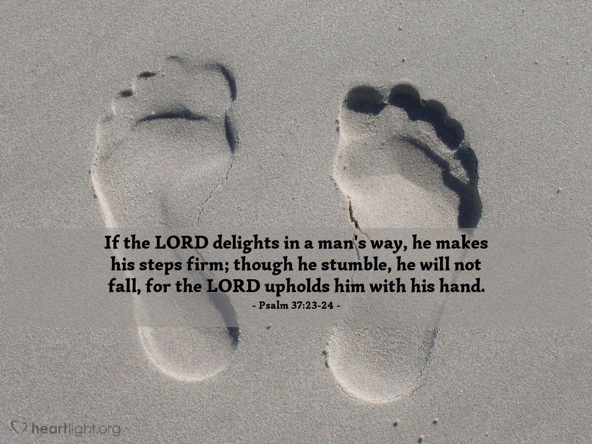 Verse of the Day Psalm 372324 Psalm 37 23 24, Psalms