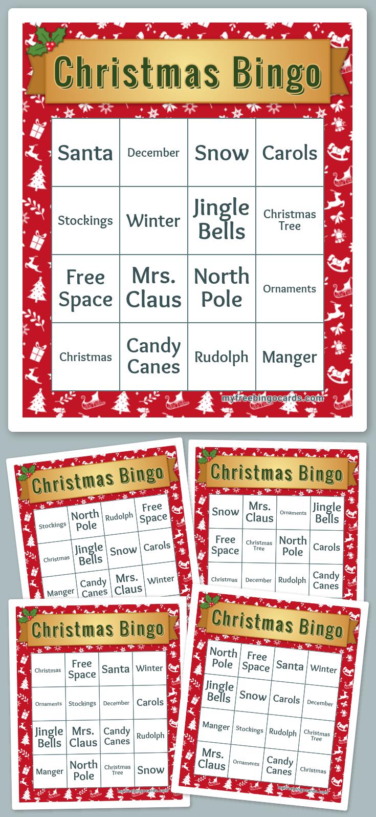 Free Printable Bingo Cards Printable christmas bingo