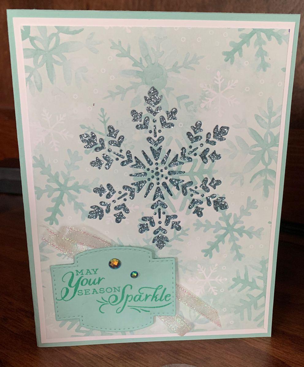Handmade Cards Using 2020 Christmas Dsp From Stampin Up Stampin Up Snowflake Wishes in 2020 | Snowflake cards, Handmade