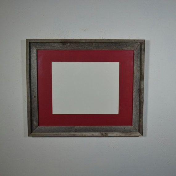 16x20 Barnwood Frame With Mat For 11x14 Or 11x17 Or 12x18 Or 12x16