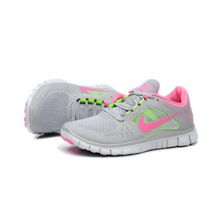 cheap sale quality design sale usa online Nike Free Run 3 Light Gray Pink Fluorescence Green Women | Nike ...