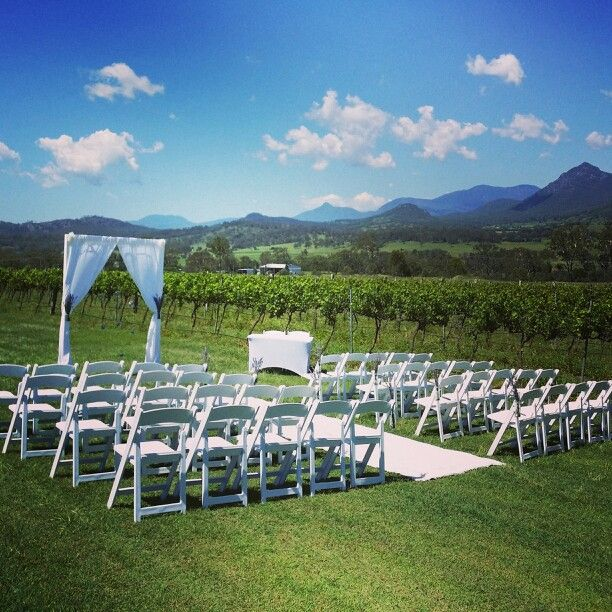 Brisbane Wedding Decorators Signature Elegant Arch Looked Divine Set Amongst The Kooroomba Lavender Farm And Vineyard