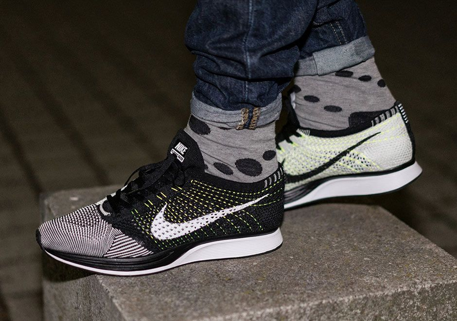 New Flyknit Racer's Imitate One Of Nike's First Flyknit Releases Ever -  SneakerNews.com. Nike Flyknit Racer WhiteBlack ...