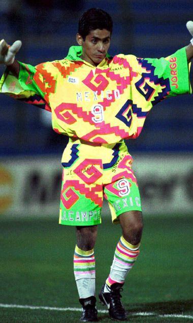 Jorge Campos 1993 Sports Uniforms Soccer Goalkeeper Shirts