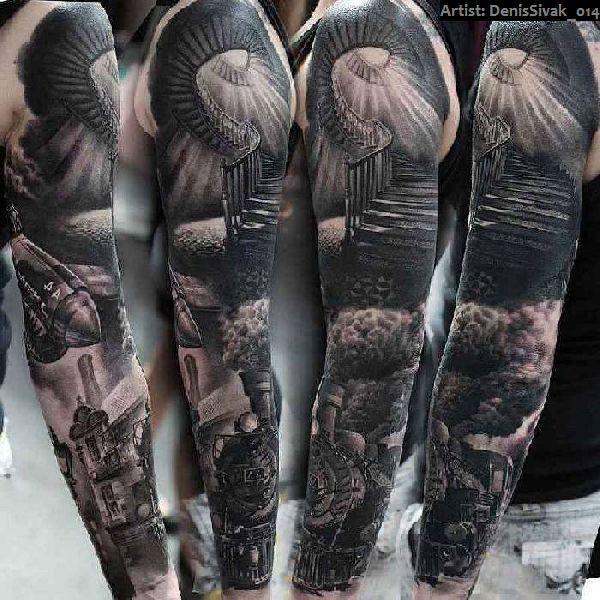 40 grandiose arm sleeve tattoos tattoo arm sleeve. Black Bedroom Furniture Sets. Home Design Ideas