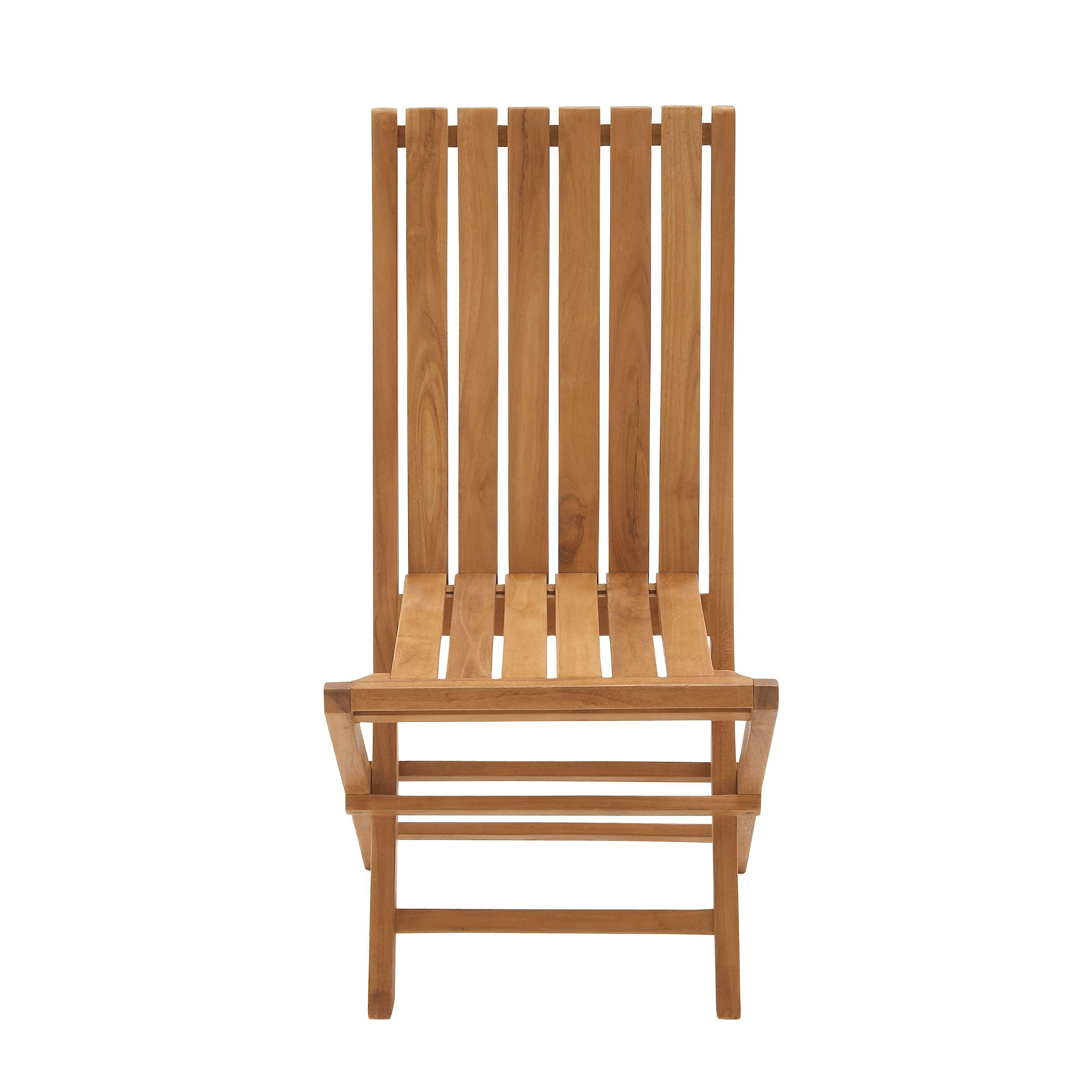 Enterprises Teak Outdoor Folding Chair SEE Description Brown