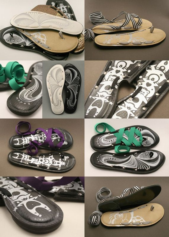 0960d3764566 Size 8 - Moped by Mohop Handmade Interchangeable Sandals - Thong Style