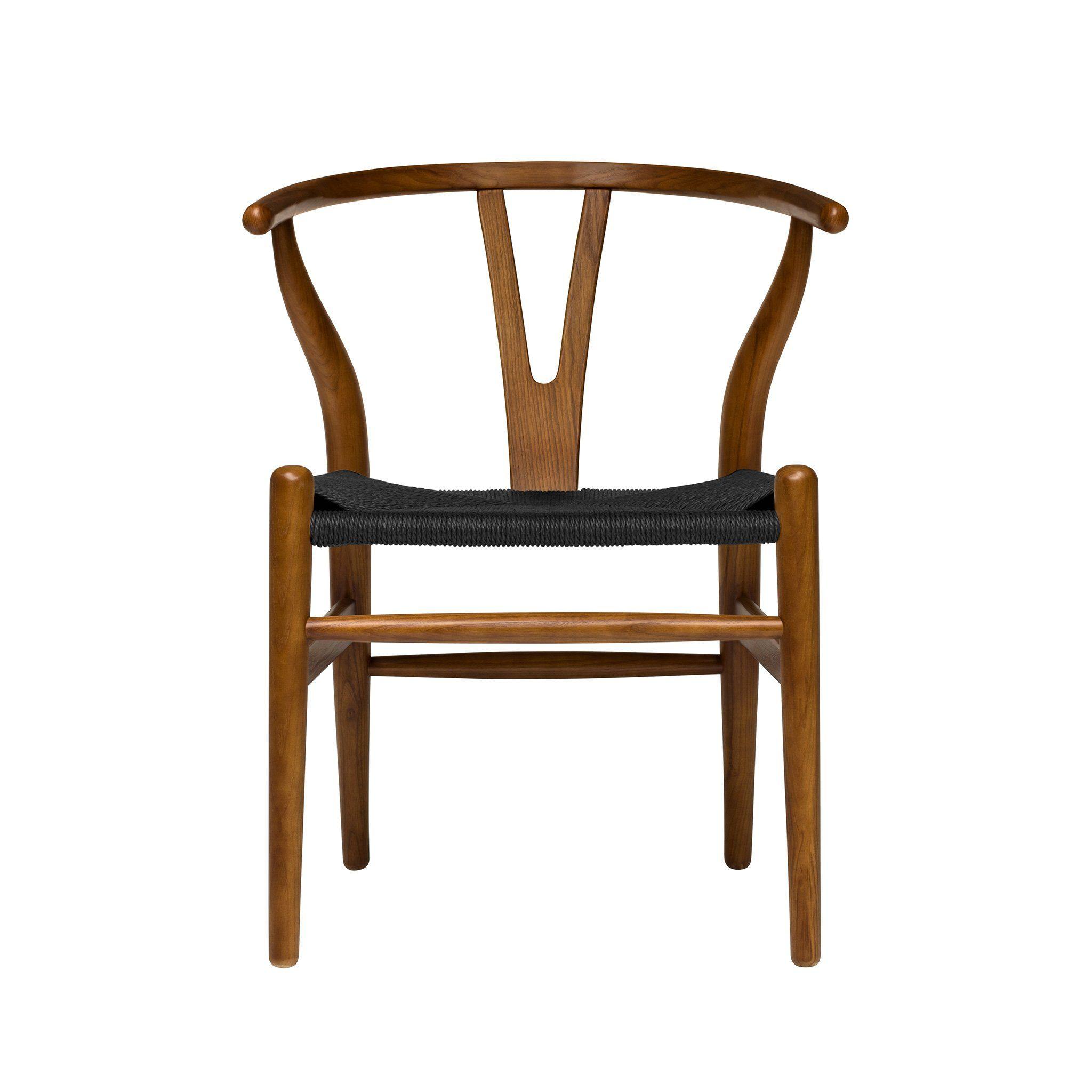 Wishbone Chair (Walnut/Black Woven Cord) Wishbone chair