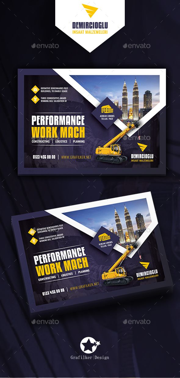 construction flyer templates by grafilker construction flyer