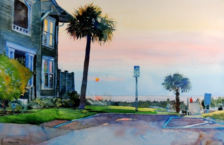 Robert Leedy Atlantic Beach Florida Watercolor Watercolour