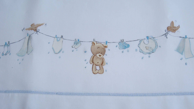Bambini Dipinti ~ Lenzuolino orsetto e panni stesi « idee dipinte u2013 dipinti a mano