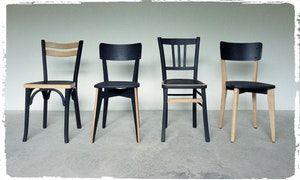 Chaises Bistrot Vintage Depareillees Revisitees Mobilier De Salon Chaise Salle A Manger Relooking De Mobilier