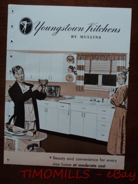 1946 Youngstown Kitchen Cabinet Mullins Home Plan Catalog Brochure