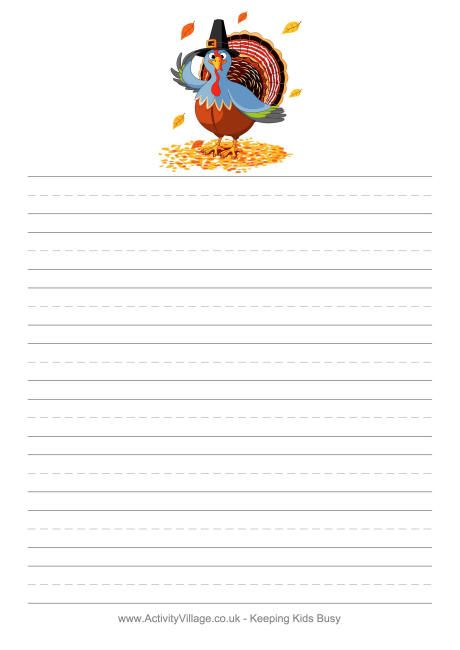 We39ve got thanksgiving stationery and writing paper which you can use in the classroom and home for Thanksgiving letterhead