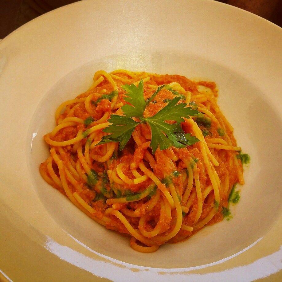 #ferie #taormina #polipo #pasta #pomodoro #prezzemolo