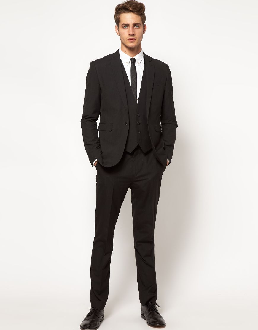 20 Best Black Suit For Men | Slim fit suits, Fitted suits and ASOS