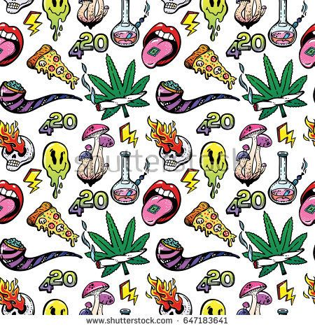Stoned trippy drug theme and cool psychedepic character