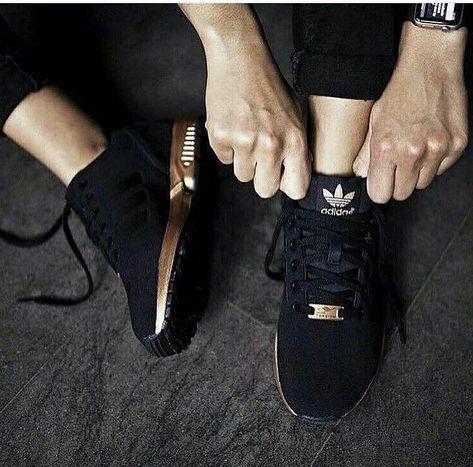 Adi Zx RoseGold & Black | Adidas shoes women, Black adidas