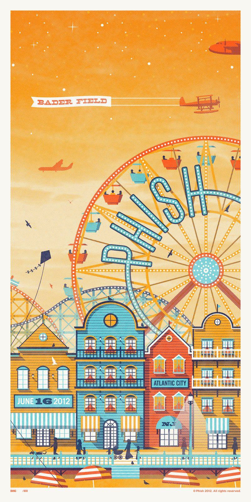 Phish // Atlantic City, NJ Poster Series by DKNG Studios