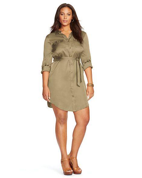 Belted Long-Sleeved Shirtdress - Shop All Dresses  Dresses - RalphLauren.com