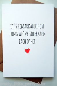 Funny Anniversary Quotes Amazing Funny Anniversary Card  Humour  Banter Laughs  Remarkable