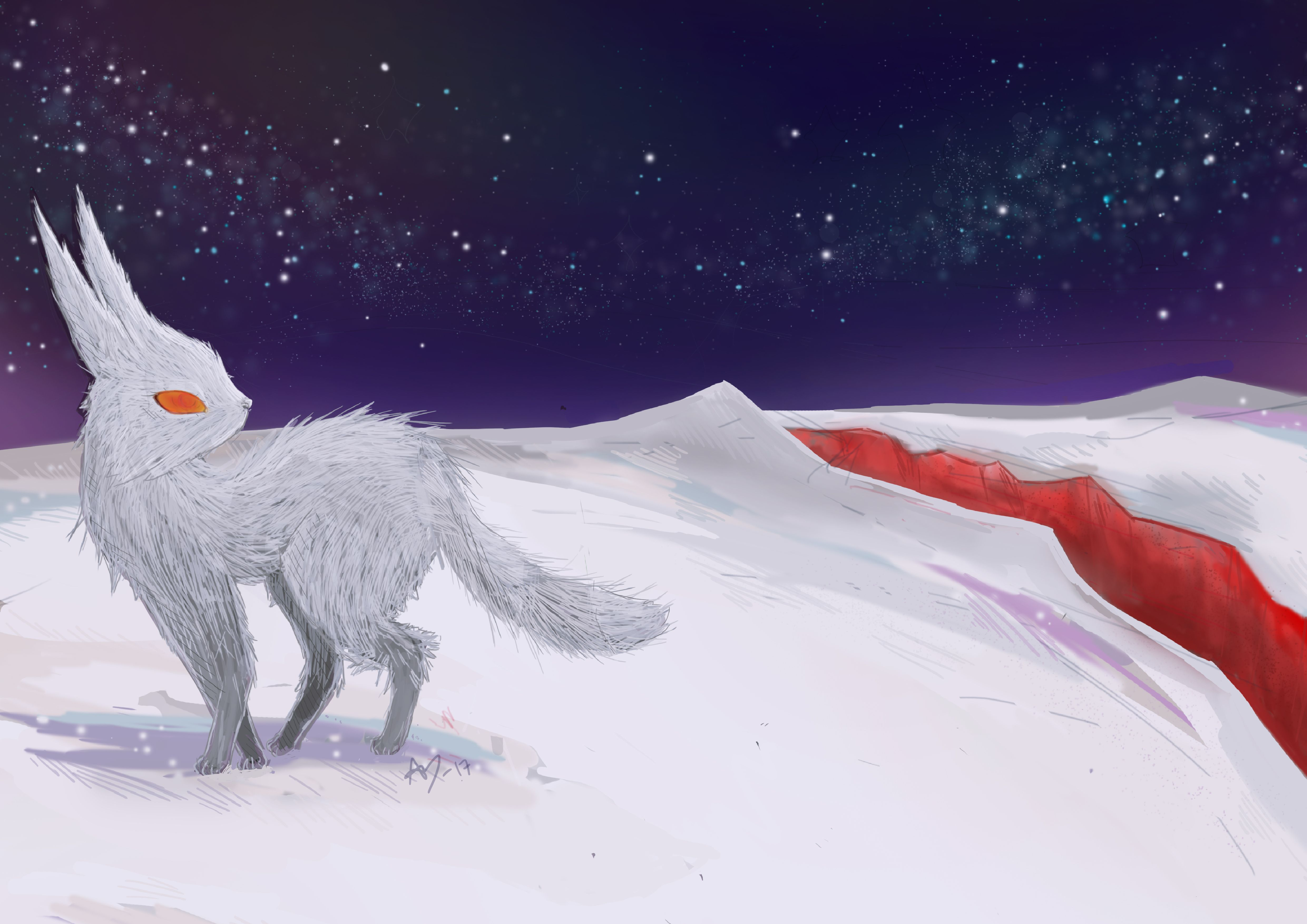 Fanart Of The Crystal Fox From Star Wars The Last Jedi Visit My Blog For More Art Cx Star Wars Villains Star Wars Fan Art Star Wars Facts
