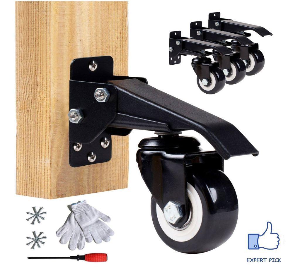 Cool Workbench Caster Kit Pack Of 4 Garage Shop Bench Wheels Frankydiablos Diy Chair Ideas Frankydiabloscom