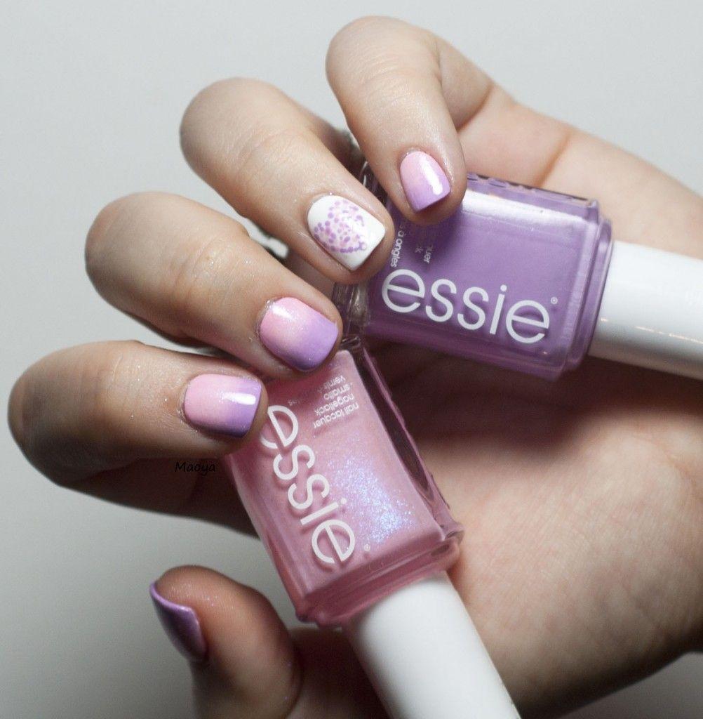 Valentine's nail // Gradient with Essie nail polish #nail #nails #nailart