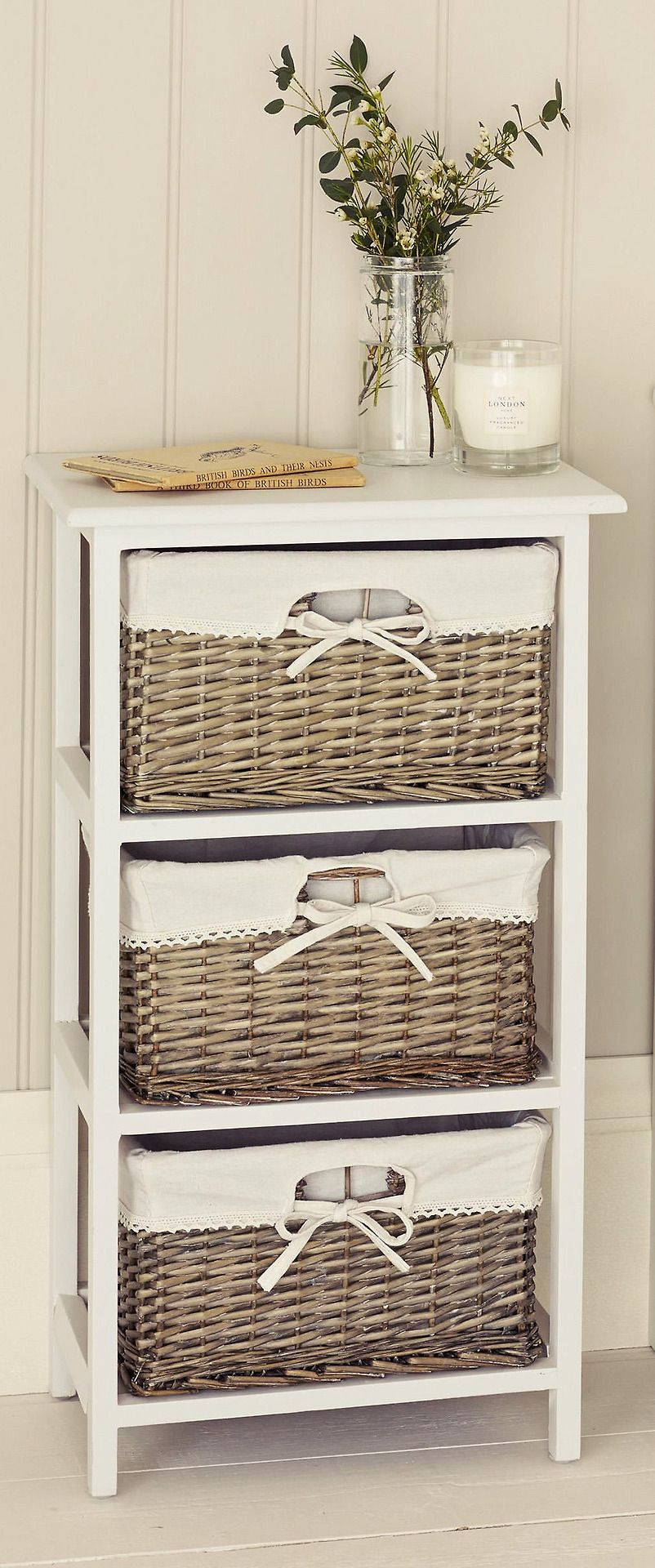 Natural wicker drawer unit from Next Brandalley Homeware
