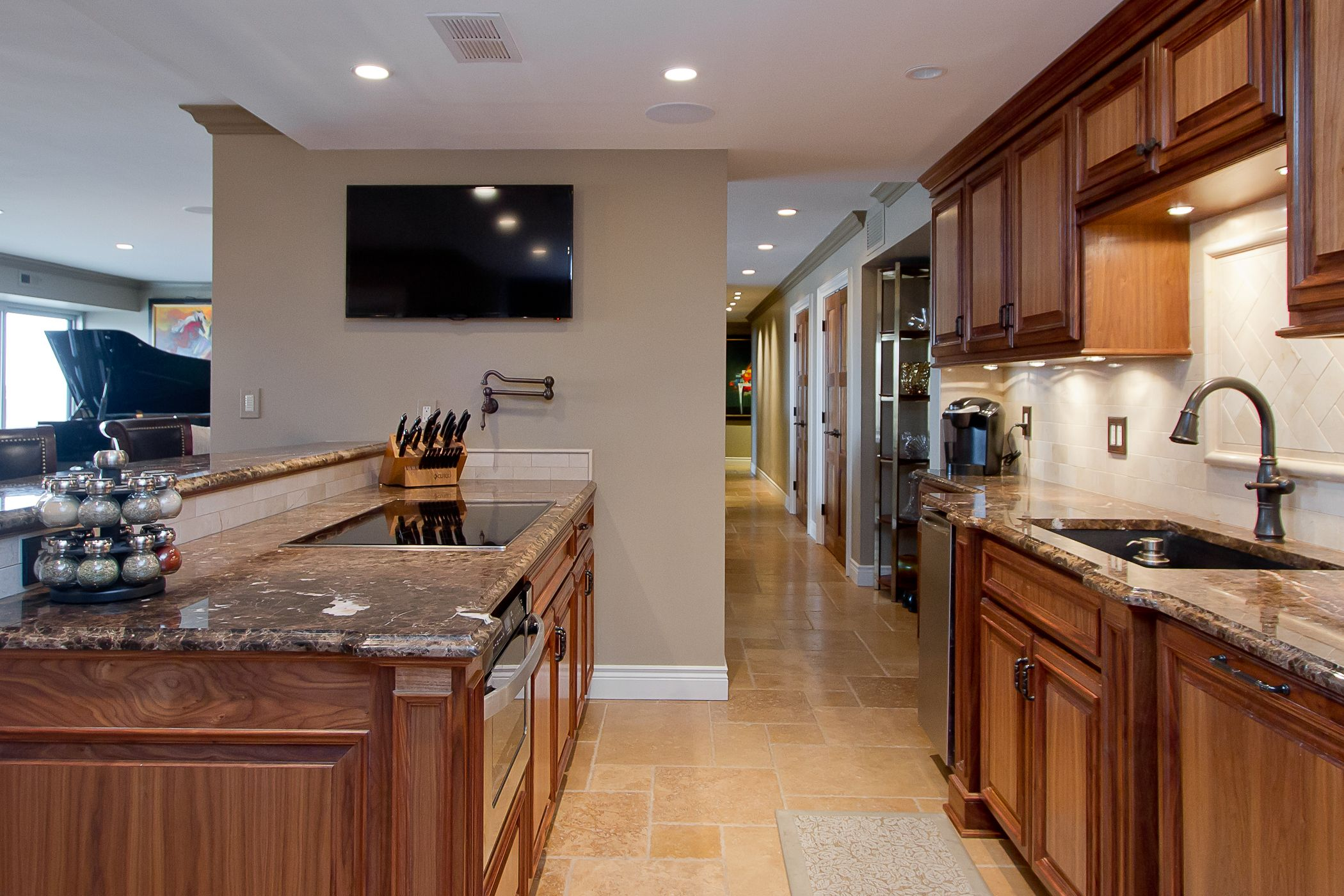 Dark Walnut Kitchen Cabinetry Condo On The Plaza Kansas City Mo Cabinetry Design Walnut Kitchen Custom Cabinetry