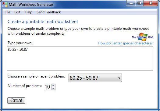 Free Math Worksheet Generator For Students From Microsoft Math Worksheets Math Worksheet Free Math Worksheets