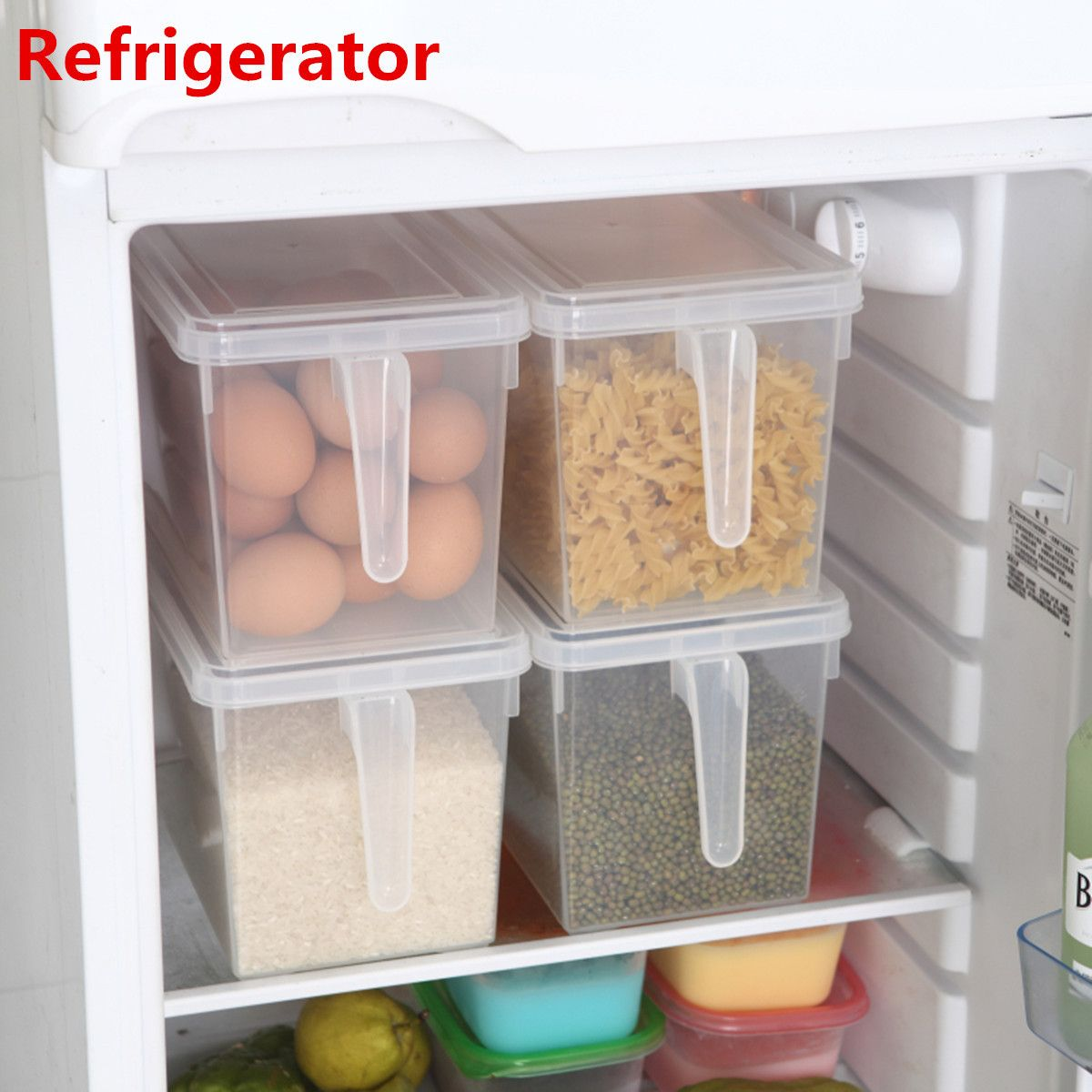 Kitchen Food Fruit Storage Containers Refrigerator Case Plastic Box